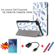 For 2017 Lenovo Tab7 Essential Colorful drawing Leather Cases for Lenovo Tab7 Essential TB-7304F/TB-7304I/TB-7304X tablet fundas assembly for lenovo ideatab 4 tb 7304x tb 7304f tb 7304 tb 7304x lcd display 7304f touch screen digitizer tablet matrix parts