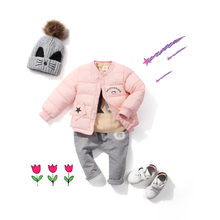 Baby autumn winter feather down cotton clothes padded jacket children's thickened inner liner children's cotton clothes(China)