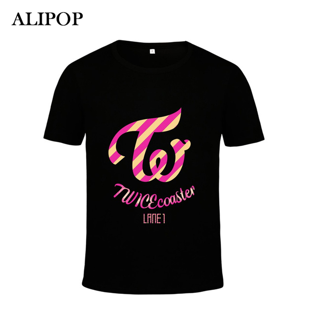 ALIPOP Kpop Korean Fashion TWICE Third Mini Album TWICEcoaster LANE1 Cotton Tshirt K-POP T Shirts T-shirt PT288