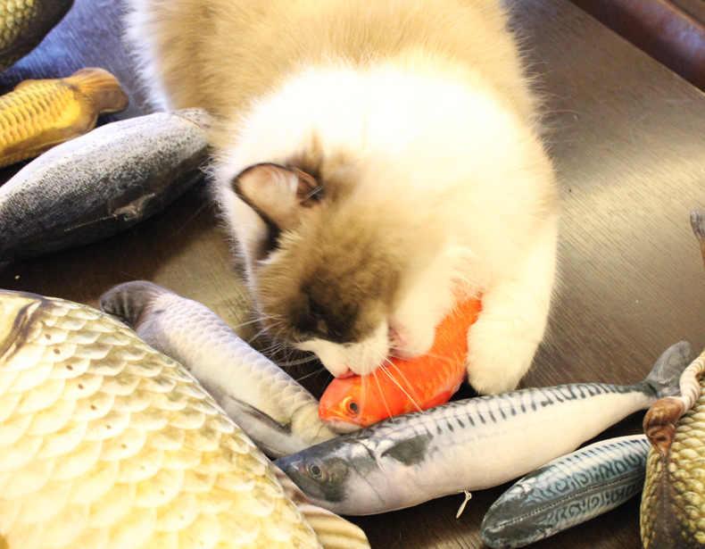 ぬいぐるみクリエイティブ 3D 魚の形猫ペット犬のおもちゃ猫のおもちゃキャットニップ子猫おもちゃギフト充填枕ペット用品