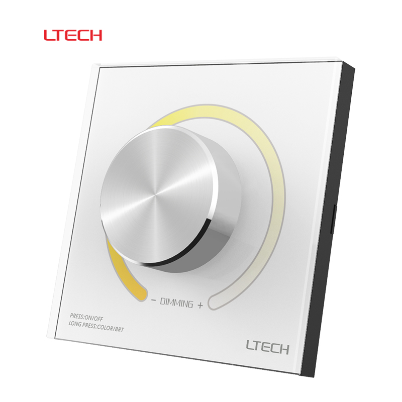 LTECH DX62 Wall Mount 2.4G RF Wireless LED Sync CCT Color Temperature Controller DMX512 Signal Ouput for Dual White Strip ac110v 240v dx62 wall mount 2 4g rf wireless led sync cct color temperature controller dmx512 signal ouput for dual white strip