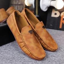 Men Casual Shoes Fashion Men Shoes Pu Leather Men Loafers Moccasins Slip on Men's Flats Male Driving Shoes zapatos de hombre цена