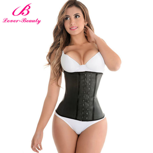 Lover Beauty Corset Plus Size gaine latex affinant la taille Latex Waist Trainer Steel Boned Waist Cincher Corsets and Bustiers