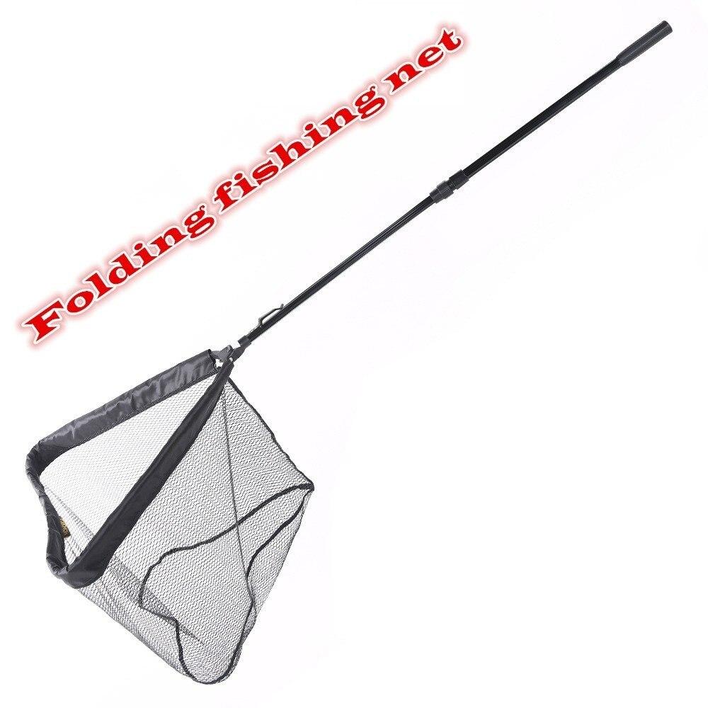 Рукоять для удочки Dip Net инструменты для посадки Рыбная ловушка резиновая Pva сетка ручная складная телескопическая длинная рыболовная сеть