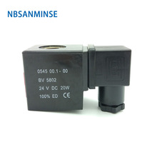 1PC 0543 / 0545 Pneumatic Control Air Electrical Solenoid Valve Coil Led DC12V DC24V AC110V AC220V For VX2120 PU225 Sanmin