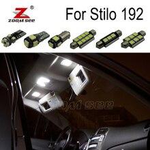 14 шт. x Canbus ОШИБОК автомобиля светодиодный Светодиодная лампа Интерьер Купол Карта огни комплект для Fiat Stilo 192 аксессуары (2001-2007)