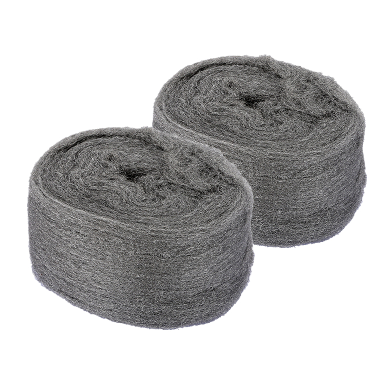 2 Pcs Steel Wool 0000 Ultra Fine Metal Fibre Wool Pads For  Stone And Wood Grinding Polishing Hand Tools