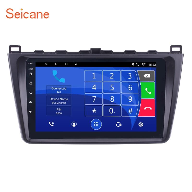 Seicane 9 pouce Android 8.1/7.1 Voiture Multimédia Palyer GPS Navigation Pour 2008 2009 2010 2011 2012 2013 2014 2015 Mazda 6 Rui aile