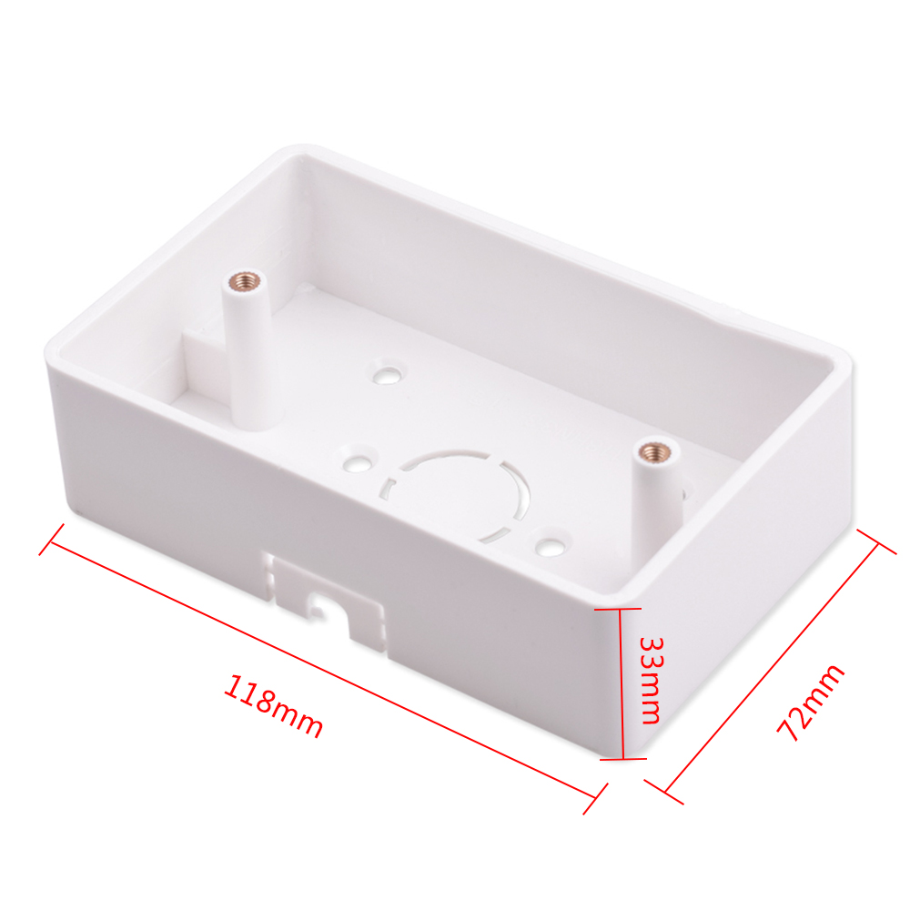 118*72mm Wall Mounted Junction Box For Curtain Blind Switch White Color Installation Box For US Standard WiFi Curtain Switch