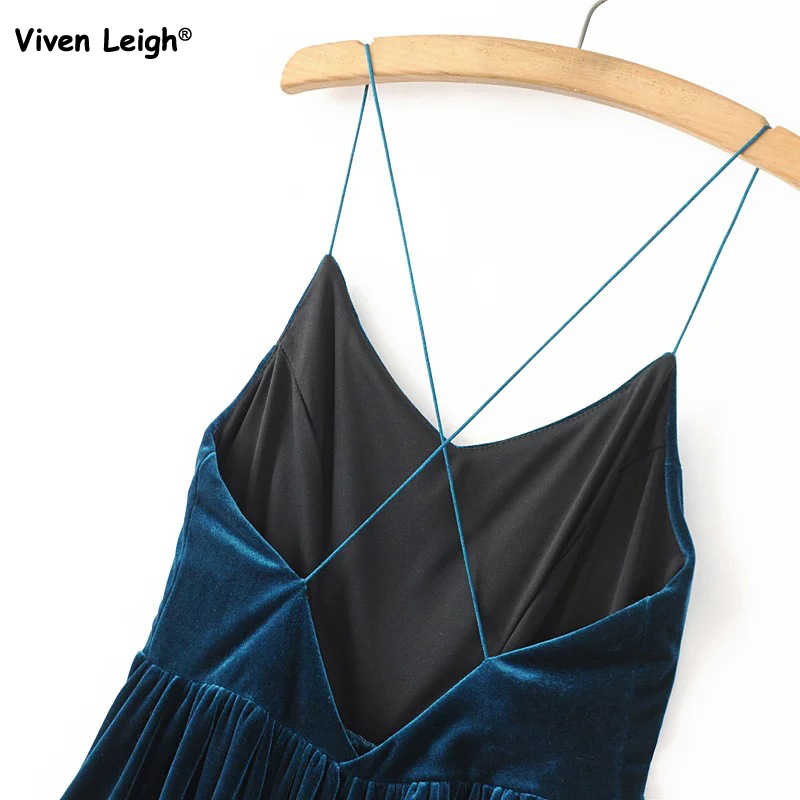 bed19280893 Brand New Women Playsuit Sexy Flare Velvet Spaghetti Strape Romper Urban  Outfitters Pleated Shorts-in Rompers from Women s Clothing on  Aliexpress.com ...