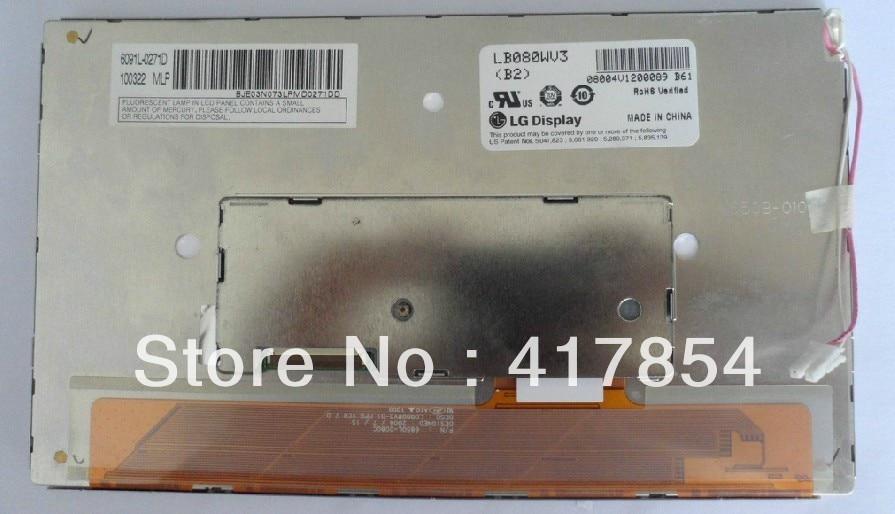 Free shipping original 8.0 inch for LB080WV3(B2) LB080WV3-B2 LB080WV3 B2 LED LCD screen display panel module free shipping 10pcs stk730 080
