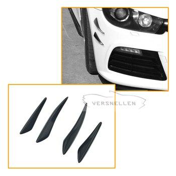 4 stück Ein Satz Carbon Canards Universal-Carbon Fiber Front Bumper Splitter Auto Styling für Audi Benz Honda BMW