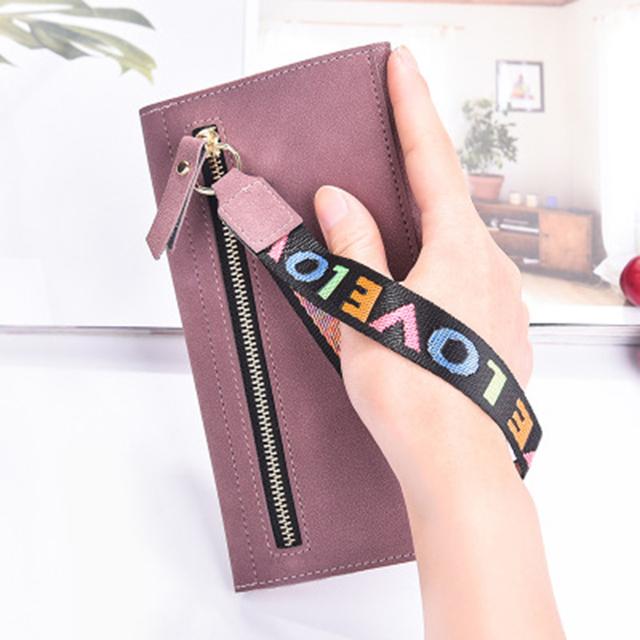Fashion Long Matte Suede Women's Wallet