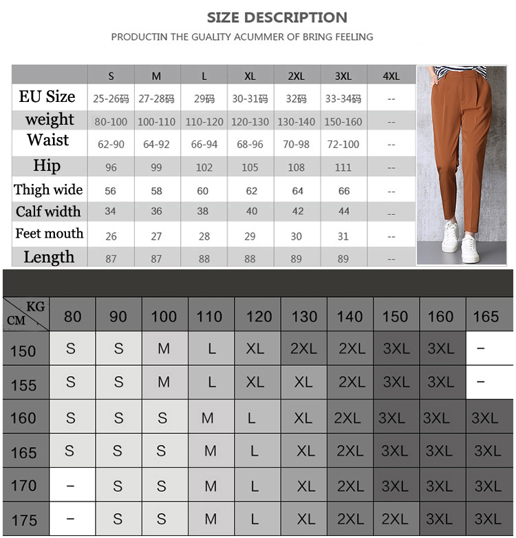 Hot Sale Harem Pants Women 19 Summer Autumn Pants Casual OL Pants Elastic High Waist Slim Work Pants Plus Size 3XL Trousers 2