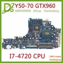 Kefu ZIVY2 LA-B111P материнская плата для Lenovo Y50-70 материнская плата для ноутбука i7-4720 Процессор GTX960M оригинальный Тесты Материнская плата ноутбука