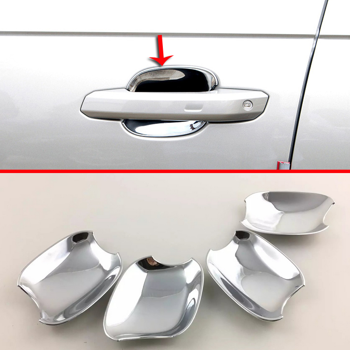 ABS Chrome Door Bowl Trim For <font><b>Audi</b></font> <font><b>A4</b></font> <font><b>2017</b></font> 2018 image