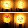 EUA UE ficha do bebê luz da noite de cerâmica aroma night light energy-saving mushroom luz nightlight crianças do quarto do bebê