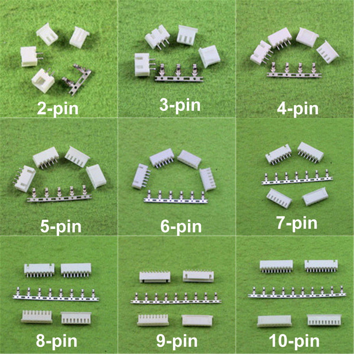 JST XH2.54 2/3/4/5/6/78/9/10-Pin Connector Plug (Male,Female,Crimps) x 50sets jst xh2 54 2 3 4 5 6 78 9 10 pin connector plug male female crimps x 50sets