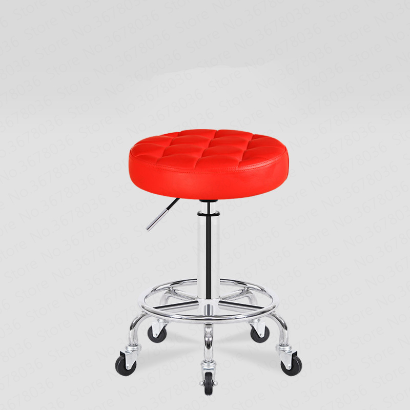 20% Round Beauty Stool Pulley Work Chair Rotary Lifting Makeup Chair Beauty  Salon Stool  Beauty Salon Special Round Stool