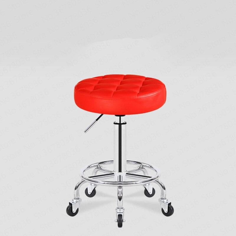 20% rond beauté tabouret poulie chaise de travail rotatif levage maquillage chaise Salon de beauté tabouret Salon de beauté spécial rond tabouret