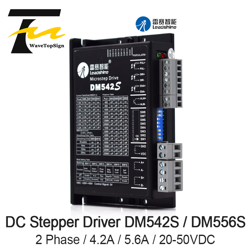 Leadshine 2Phase Stepper Motor Driver <font><b>DM542S</b></font> DM556S Supply Voltage 20-50VDC Current 4.2A 5.6A image