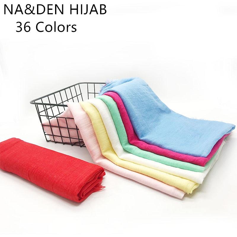Multicolor Hijabs Oversize Viscose Simple style Woman Muslim Head hajab Scarf Solid Comfortable Shawl Wrap Hot