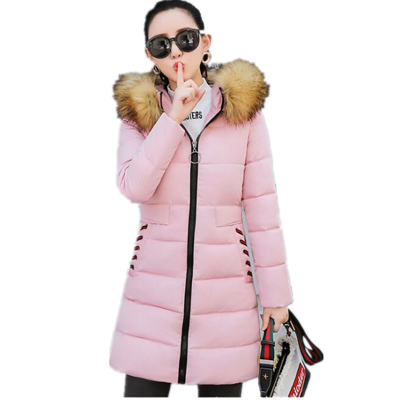 2019 New Hooded   Parkas   Female Thick Warm Cotton Winter Coat Women Wadded Winter Jacket Women Outwear 3XL Casacos G061