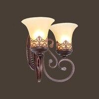 HGHomeart מיטת ברזל פמוט קיר הר אור LED רטרו לופט אורות E27 110 V/220 V קריאת Luminaire חדר אמבטיה תאורה בבית