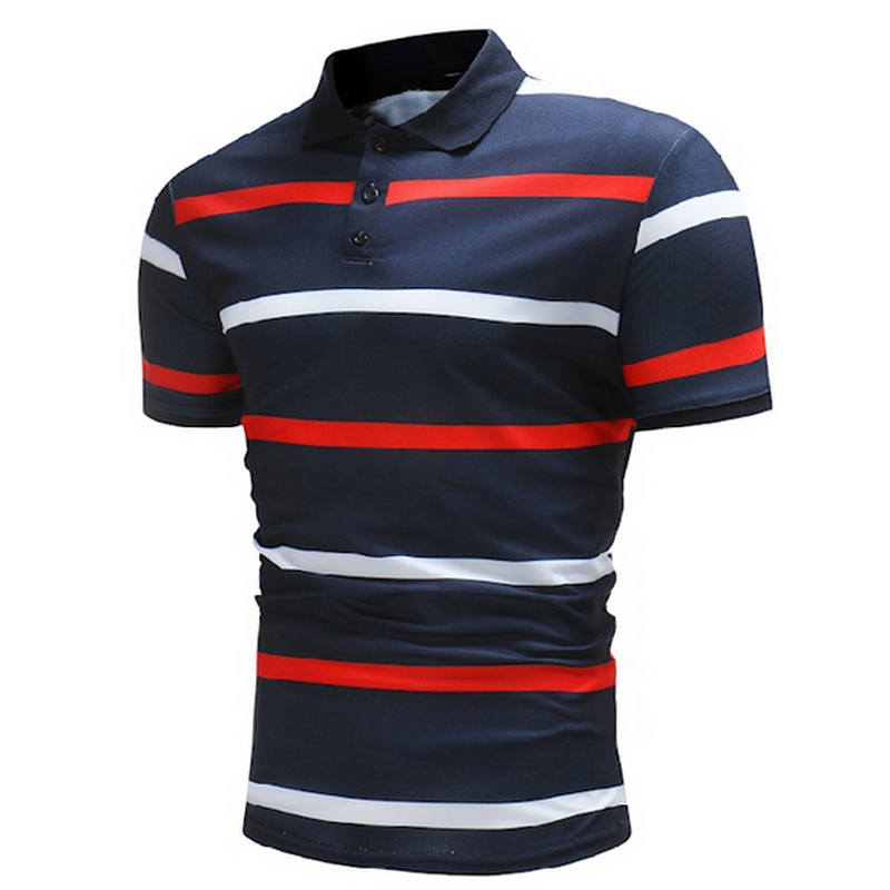 New Arrival 2018 Brand Clothing Men   Polo   Shirt Men Business & Casual Stripe Male   Polo   Shirt Short Sleeve Breathable   Polo   Shirt