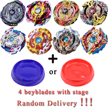 4pcsset Random Delivery Beyblade Set Burst Metal Fusion 4D With 2 Launchers 1 Handle Spinning Top Gift For Kids Toys #E beyblade set