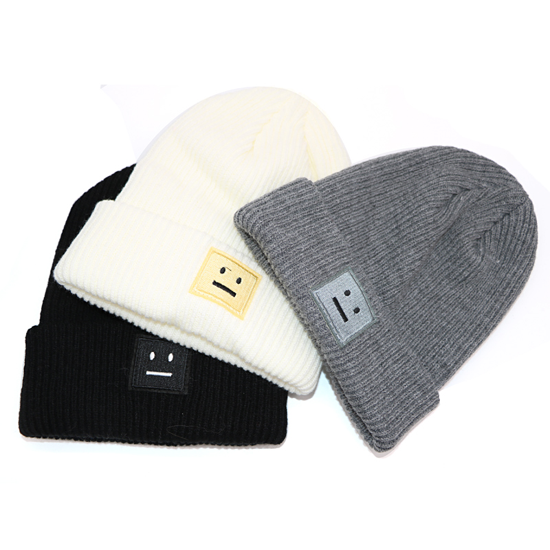 3Pcs Autumn Winter Knitted Hats For Women Fashion Cotton Hip Hop Beanies Hat Female Knit Warm Caps Girls Skullies Cap Gorro fine three dimensional five star embroidery hat for women girls men boys knitted hats female autumn winter beanies skullies caps