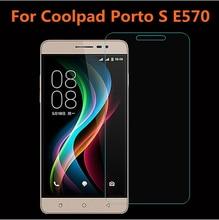 2.5D 0.3 мм закаленное стекло Для Coolpad Porto S E570 5.0 дюймов защитная пленка переднее стекло + чистые комплекты