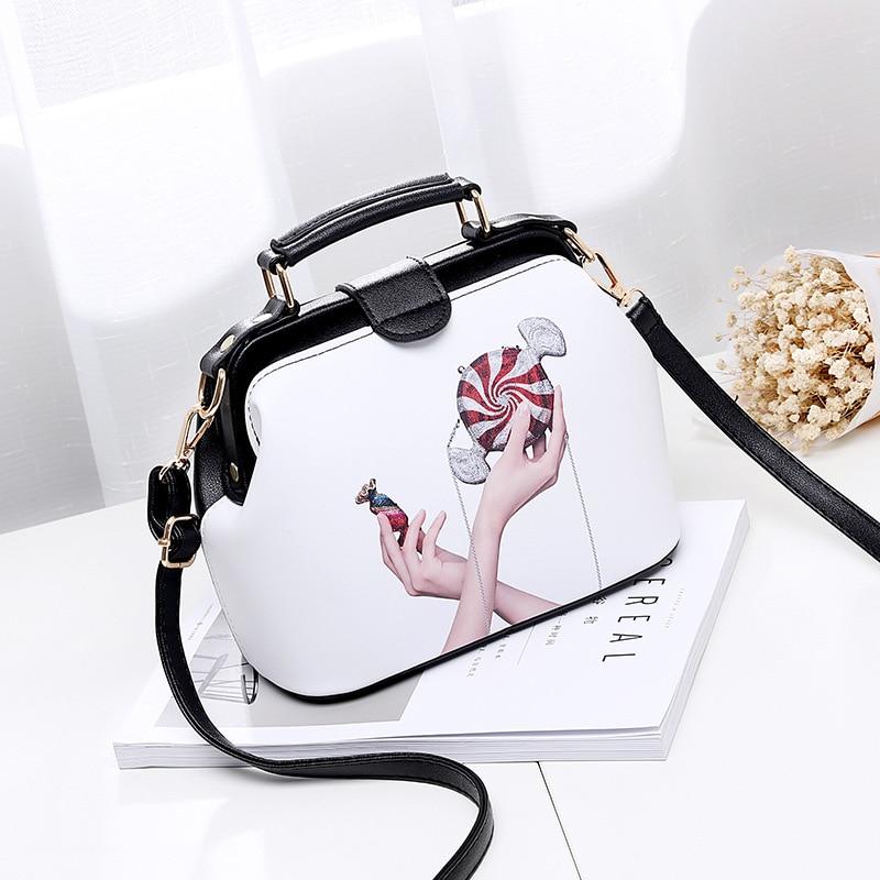 2017 Women Personality Fashion Buckle Small square bag Designer Handbag Casual Shoulder Messenger Bag New Sac Femme 6