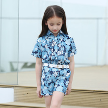Well-known Model Woman Garments Units Style Women Summer season Flowers Set Garments Women Fits Children Shirt + Shorts Kids Clothes Set