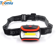 Mini Waterproof 300Lm COB LED Headlight 3xAAA Headlamp Bike Bicycle Head light with Headband for Camping Hiking Biking Kids