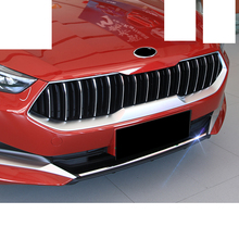 Lsrtw2017 Abs Car Front Grill Bumper Strip Engine Hood Protctive Trims for Kia K3 Cerato 2018 2019 2020