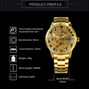 WINNER Men's Skeleton Dress Automatic Mechanical Watches 2