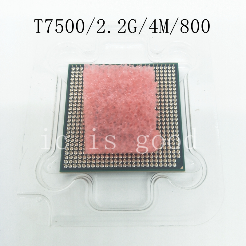 Core 2 Duo T7500 CPU 4M Socket 479 Cache/2.2GHz/800/Dual-Core Laptop Processor