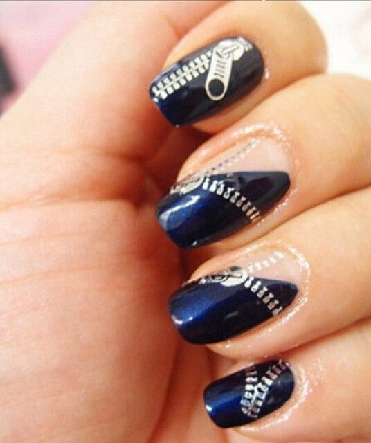Beautiful Zipper Nail Decals Embellishment - Nail Art Design Ideas ...