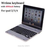 Free Shipping V3 0 Wireless Bluetooth Keyboard For Ipad2 Ipad3 Ipad4 With 4000mAh Power Bank