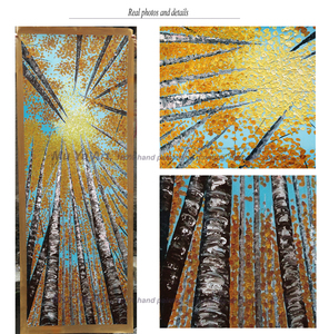 Image 5 - Large Vertical modern painting decorative pictures abstract art acrylic landscape painting canvas pictures for living room wall