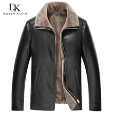 2017 New Leather jacket men New 2016 Brand Genuine sheepskin Wool Liner and Collar Luxury male Winter Coat 14S562