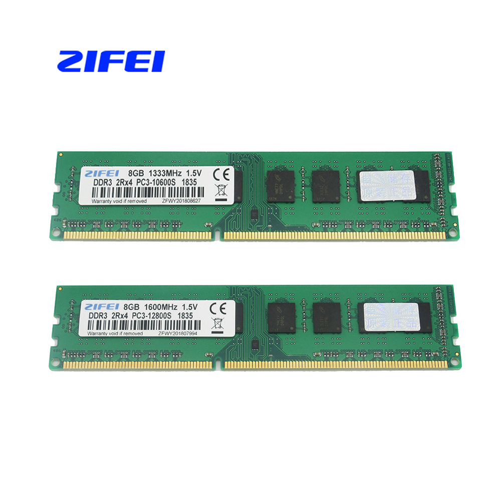 ZIFEI DDR3 8GB 1600Mhz 1333MHz DIMM Desktop Memory RAM for Socket AM3 AM3 FM1 FM2 AMD