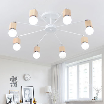 Luzes De Teto Luminária De Iluminação Casa Do Vintage Vários Haste De Ferro Forjado Lâmpada Do Teto E27 Lâmpada Sala Lamparas De Techo