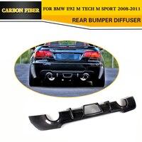 Carbon Fiber Racing Rear Diffuser Lip For BMW E92 335i M Sport Coupe Bumper 2008 2011