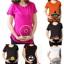 Pregnancy clothes New Funny Maternity Shirt for pregnant women plus size t-shirt Summer Premaman Shirts zwangerschaps kleding Y
