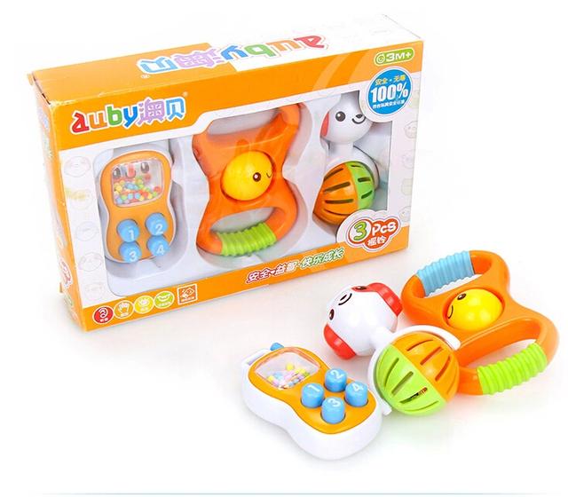 Presente de aniversário de brinquedo de plástico colorido do cão de sorriso 3 pçs/set