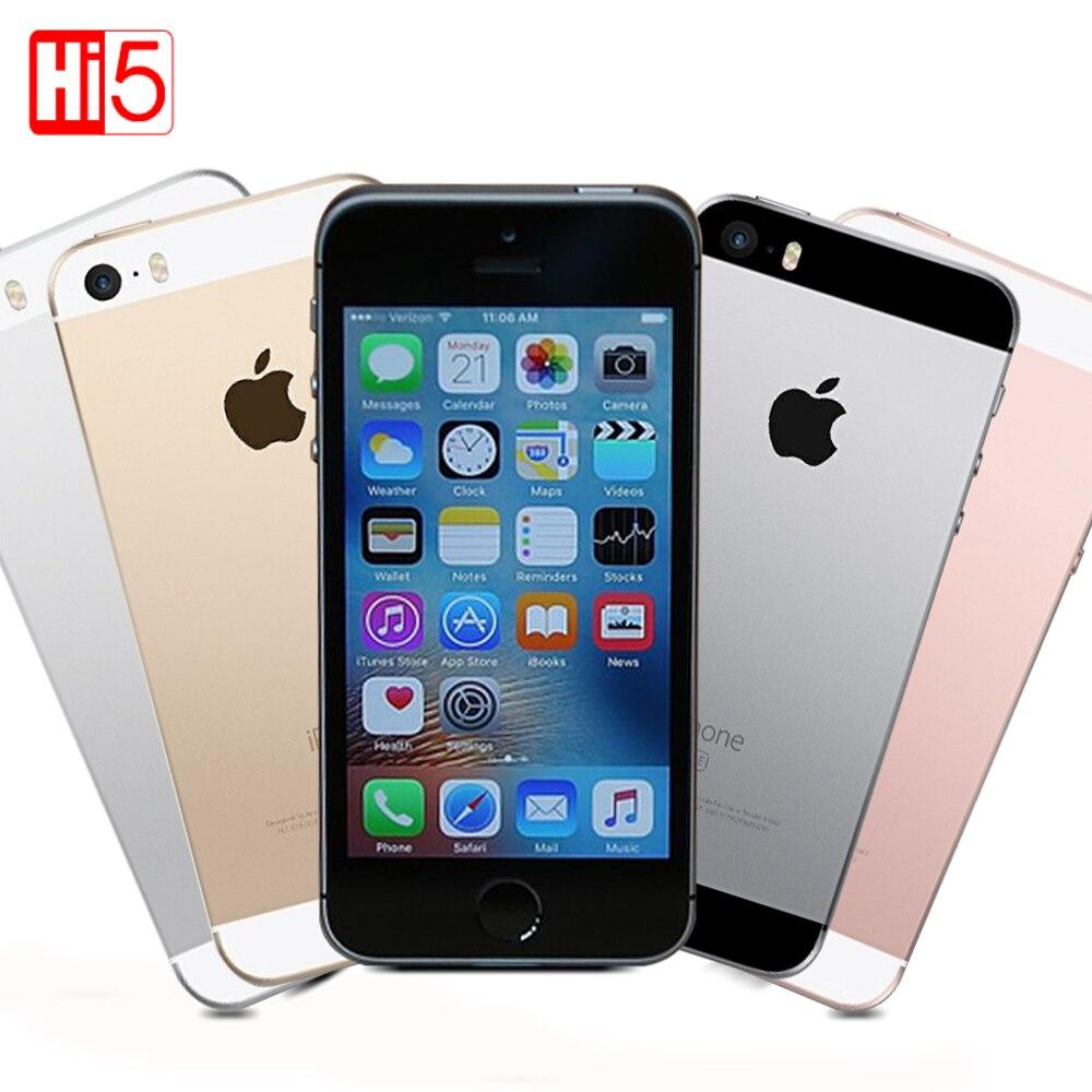 """Цена за Использовать apple iphone se разблокировать мобильный телефон lte 2 ГБ озу 16/64 гб rom 4.0 """"чип A9 iOS 9.3 двухъядерный Отпечатков Пальцев бесплатная доставка"""