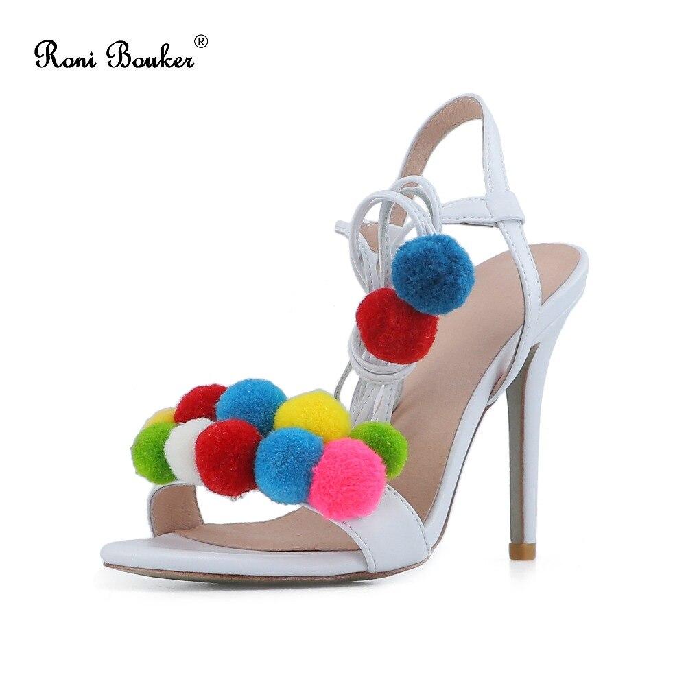 D'été Croix Roni Sandale Talon Bretelles Femelle Femmes Mode Chaussures De Toe Bouker White Talons Femme Sandales Stiletto Size42 Conception Peep qrAw0qI