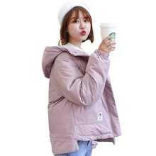цена на Winter jacket Women puffer jackets Hooded Warm Coat Cotton Padded Female Parka Womens Plus Size women winter clothes coats